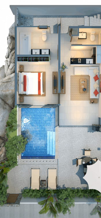 Two Bedroom Modern Pool Villa Level 1 cropped